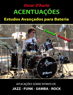 Oscar D'Auria, baterista, D'Auria, bateria, aulas, clases, músicos