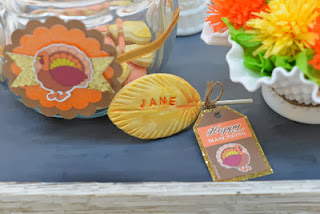 Thanksgiving Place Card Cookies by Frog Prince.