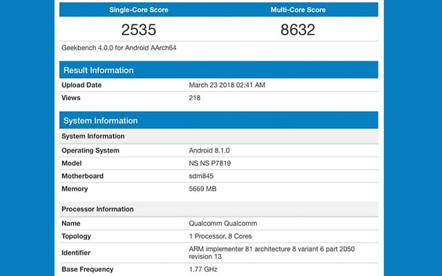 OnePlus-6-benchmark-surpasses-galaxy-s9-Geekbench