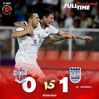 Mumbai City FC ride on Defedrico's goal