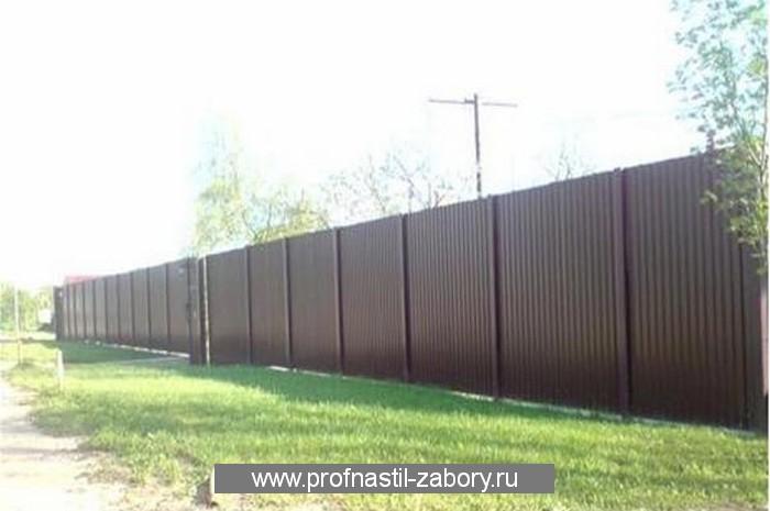 Построить забор из профнастила