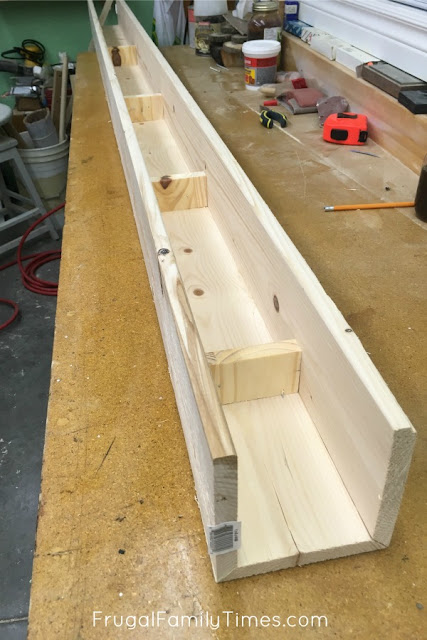 how to make faux beam from wood