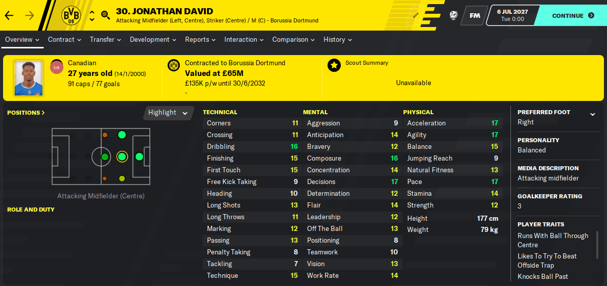 FM 2020 Wonderkid - Jonathan David