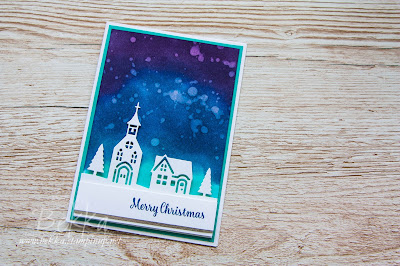 Night Sky Hometown Greetings Christmas Card - buy the Stampin' Up! supplies to make this card here