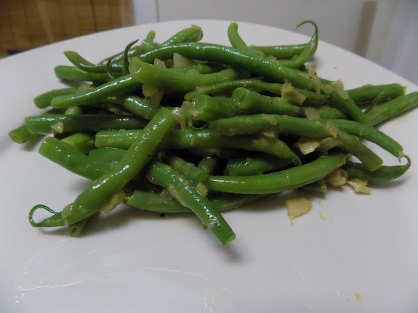 Necessity is the mother of stepping out of your comfort zone(green beans with citrus butter sauce)