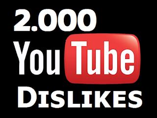Buy 2000 YouTube Dislikes