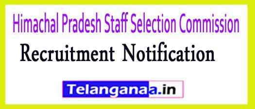 Himachal Pradesh Staff Selection Commission (HPSSC) Recruitment Notification