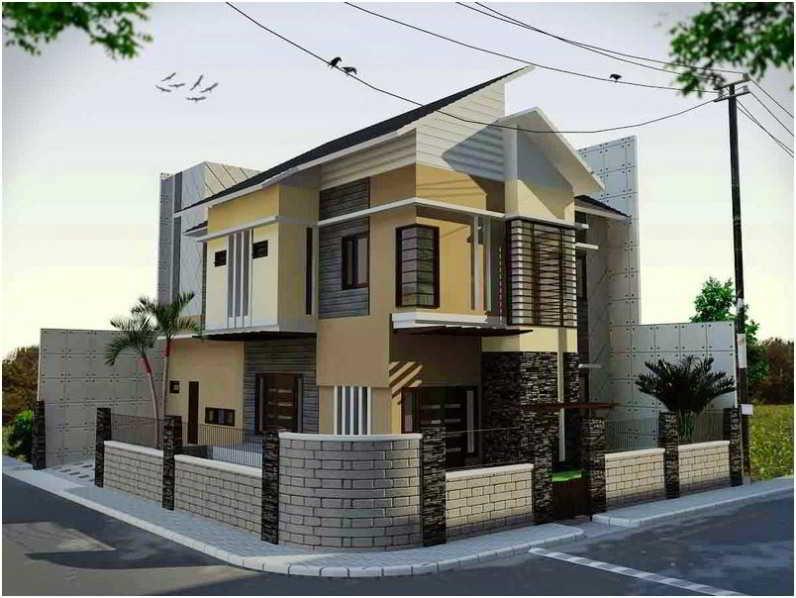 Contoh Desain Pagar Batu Alam untuk Rumah Minimalis Mewah