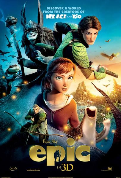 Poster of Epic 2013 720p Hindi BRRip Dual Audio Full Movie Download