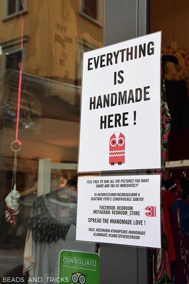 Redroom handmade shop Lambrate