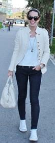 tejanos color crema jeans cream color