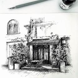 cafe sketches outdoor picturesque urban designstack arch