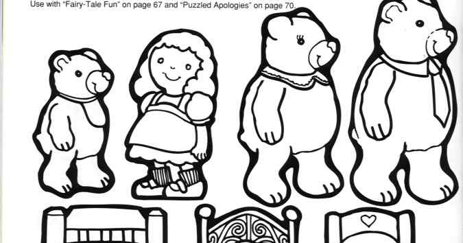 Storytime and More Goldilocks and the Three Bears Story Patterns – Goldilocks and the Three Bears Worksheets