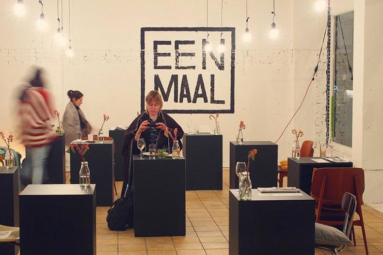 Eenmaal, un restaurante de mesas individuales en Ámsterdam | Holanda