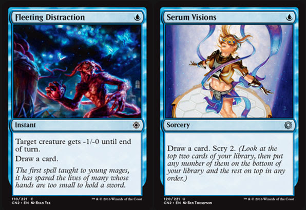 Magic The Gathering Adventures Conspiracy Set Review Blue Cards