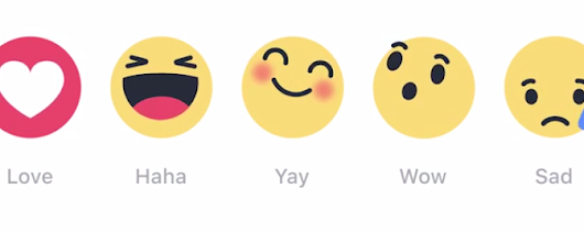 Facebook enhanced like button with emotions