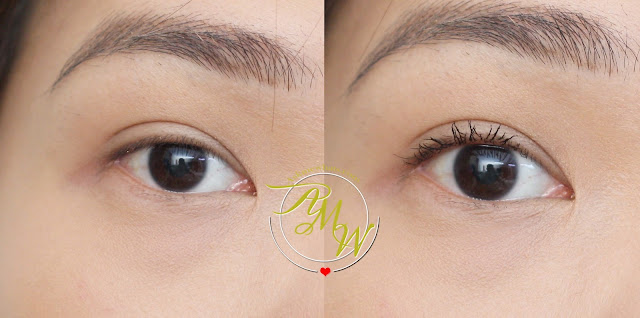 before and after photo of Revlon Ultimate All-In-One Mascara Review