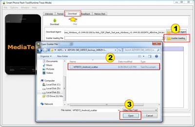 Tutorial Flash Advan S4E test 100% Sukses