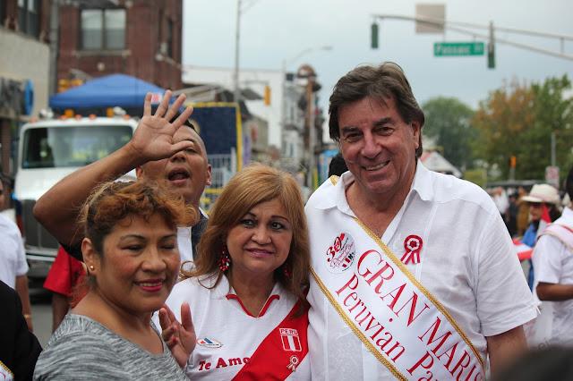 imagen del gran marical del desfile peruano de New Jersey 2016