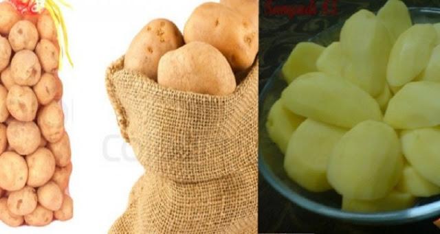 طريقة رائعة لتقشير شوال البطاطس في أقل من دقيقة وبدون سكين او مقشرة