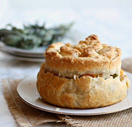 Roasted Autumn Vegetable Pot Pie