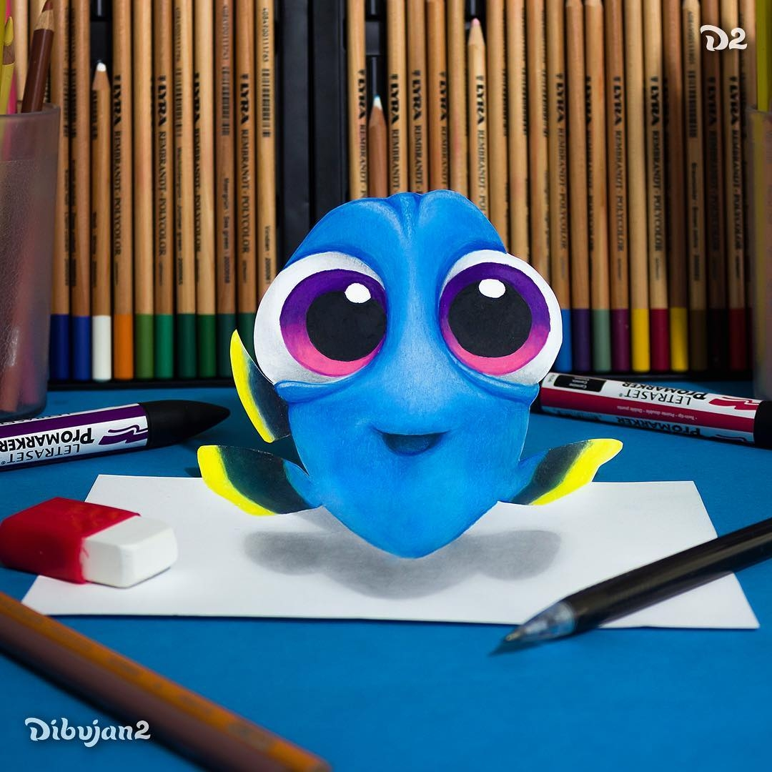 02-Baby-Dory-Miguel-Brito-3D-Illusions-with-Drawings-and-Illustration-www-designstack-co