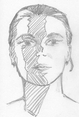 Straniero's Sketchbook: Warm-up Sketch: Woman's Face