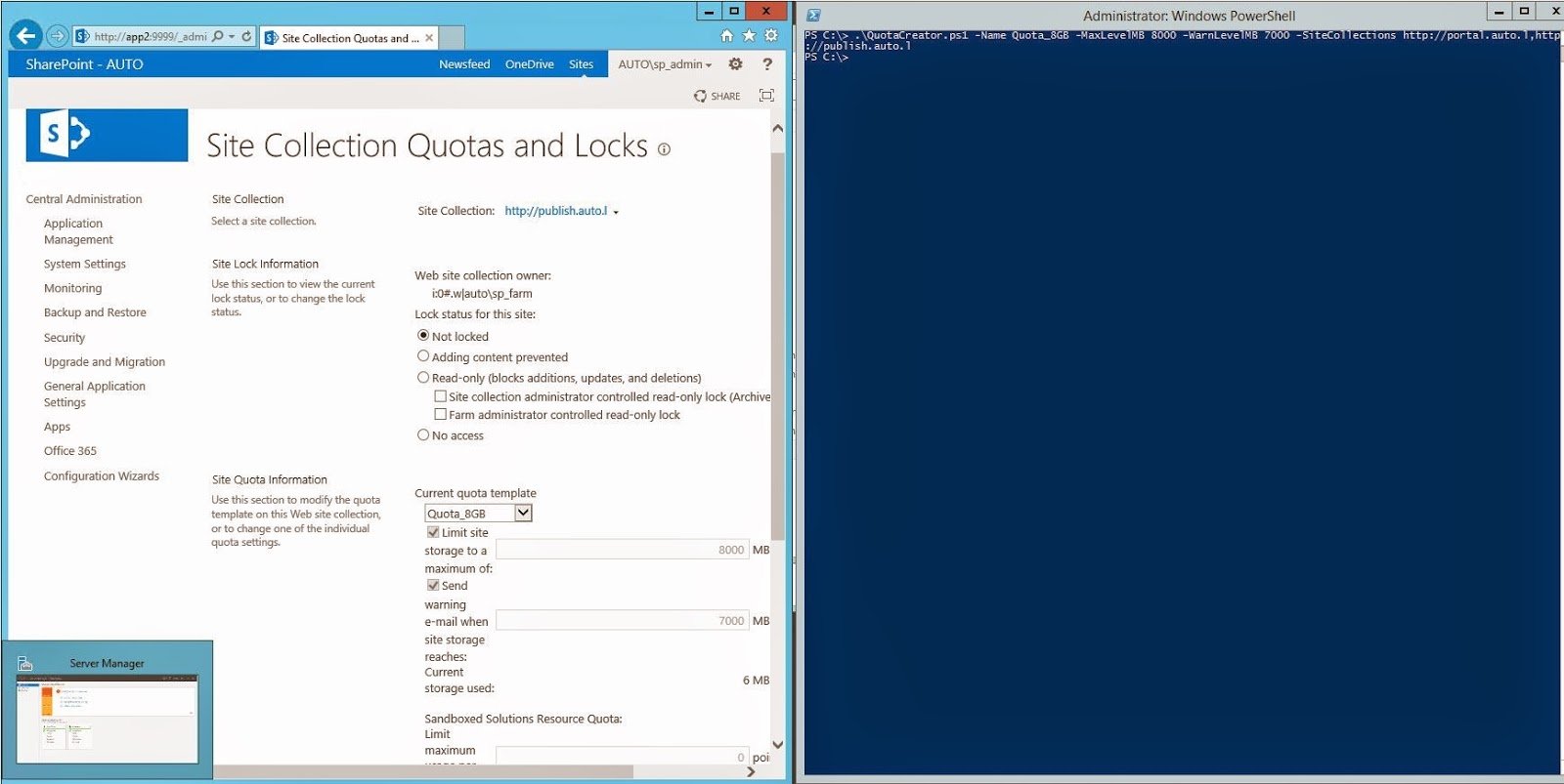 Sharepoint Trenches Sharepoint 2013 Quota Template Creation Script