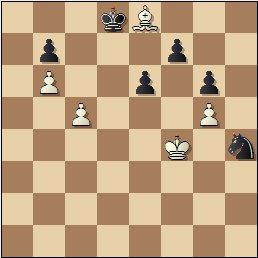 Partida de ajedrez Albareda - Bordell, 1957, posición después de 47.Ae8
