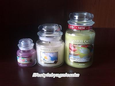 Porównanie rozmiarów świec Yankee Candle