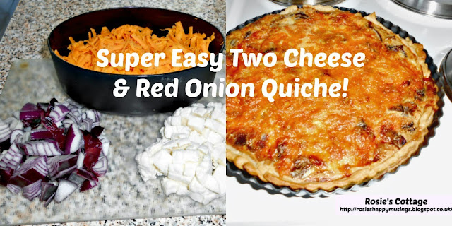 Delicious Two Cheese & Red Onion Quiche Recipe