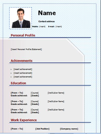 download CV template free and editable on Microsoft Word CV