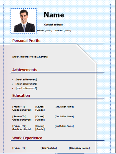 download cv template free and editable on microsoft  word