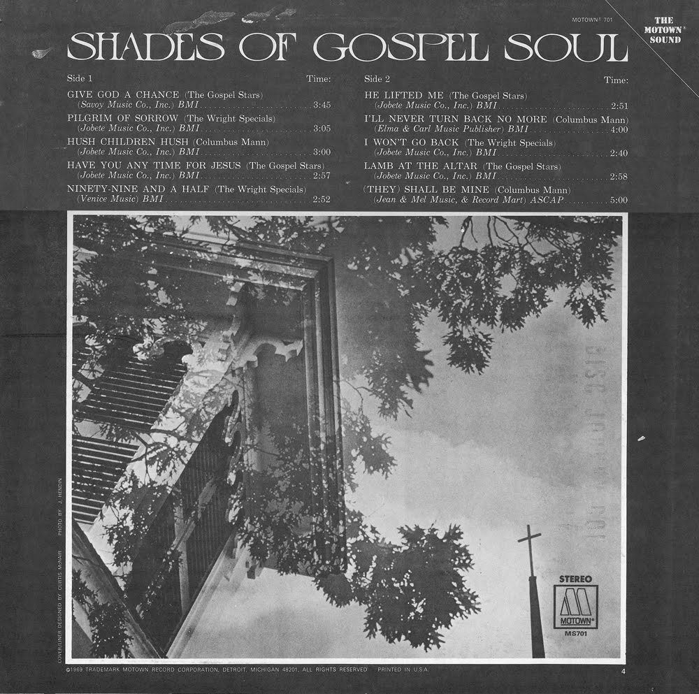 ghostcapital: V/A: Shades of Gospel Soul (Motown, MS 701)