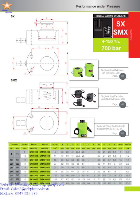 Kích Lùn Larzep SX-SMX 44 KN - 1450 KN