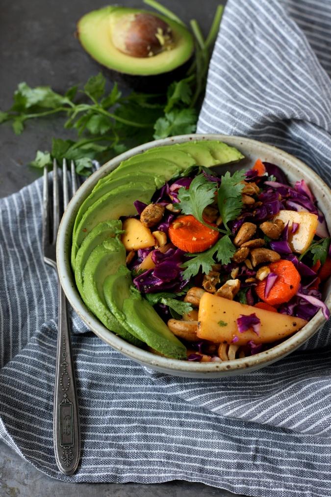 Mango & Tomato: Vegan & Raw Red Cabbage Tropical Slaw Recipe ...