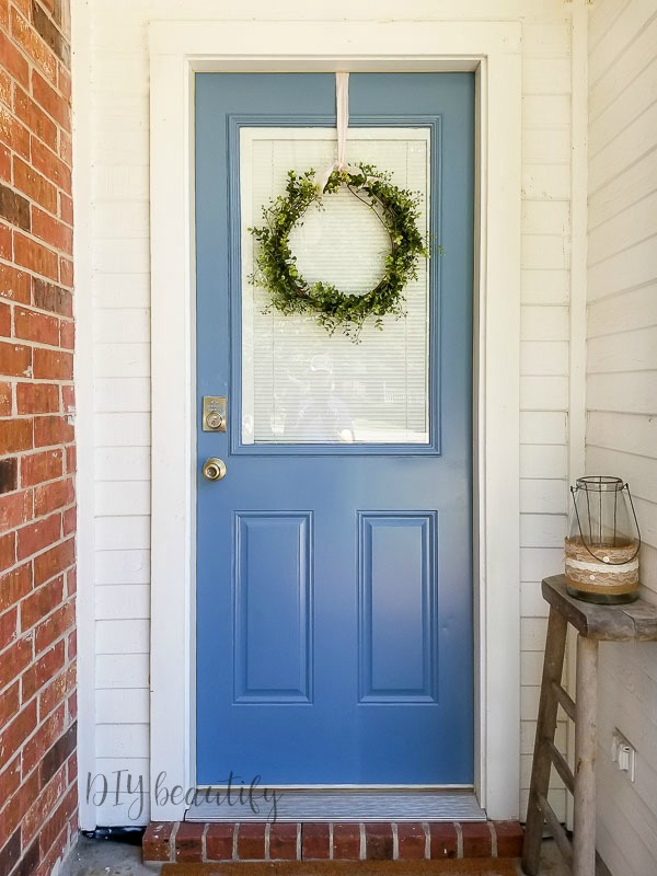 add curb appeal with painted door