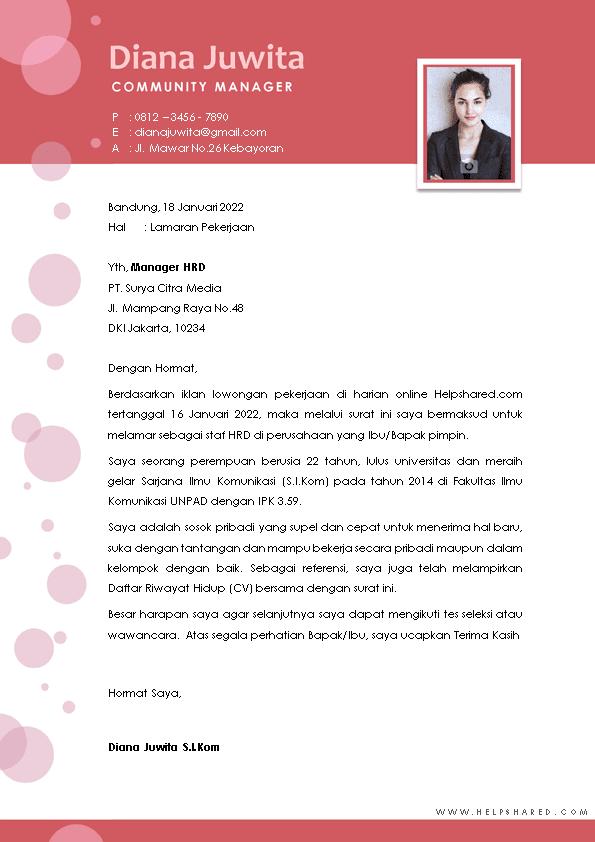 Contoh Surat Lamaran Kerja 25