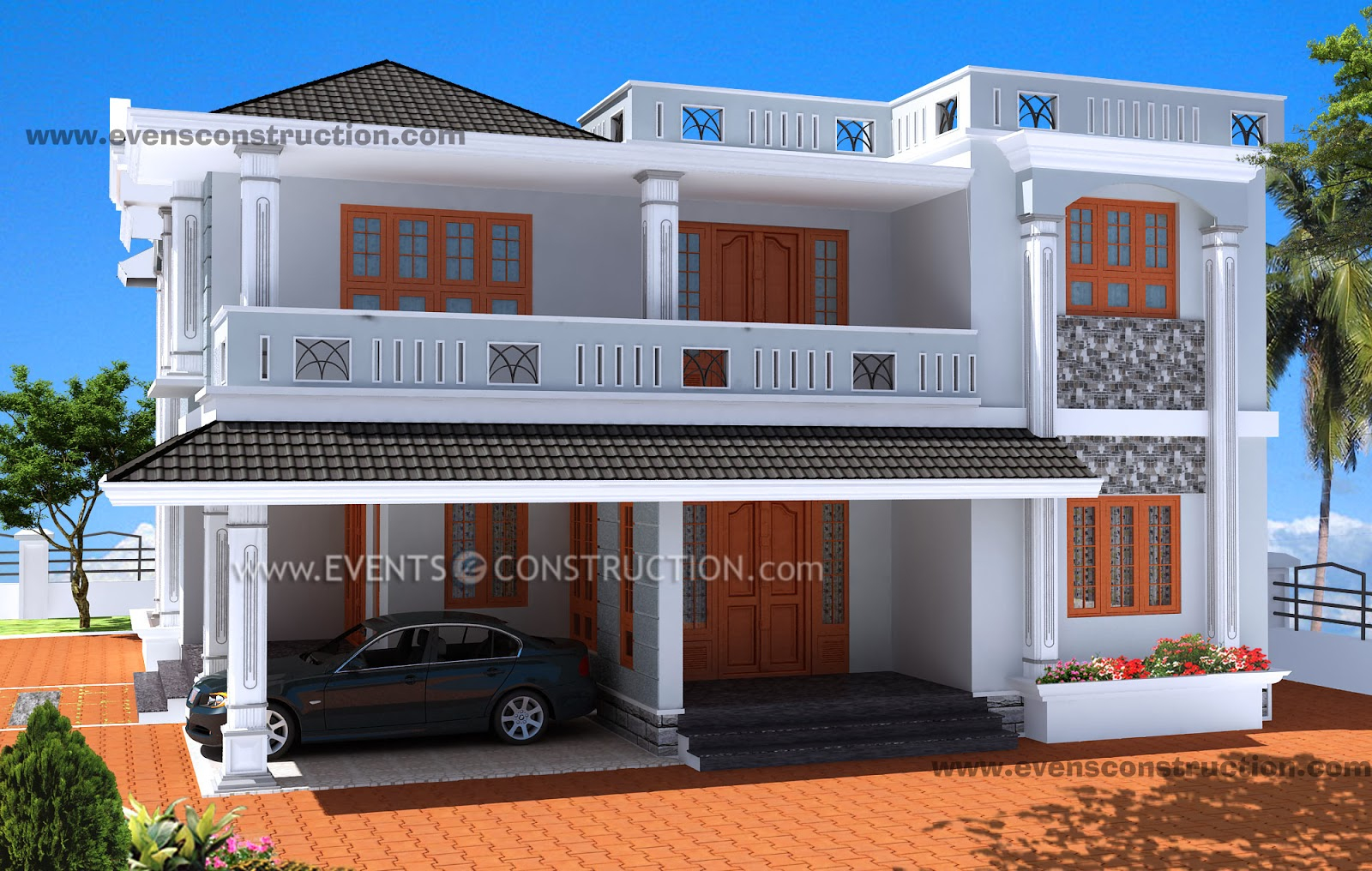 Evens Construction Pvt Ltd 3d Kerala House