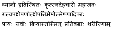 shloka, ancient reference, vyana vata, vyana vata is located in the heart
