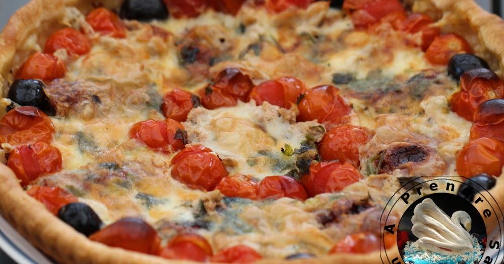 Tarte thon tomates a prendre sans faim - Recette tarte salee originale ...