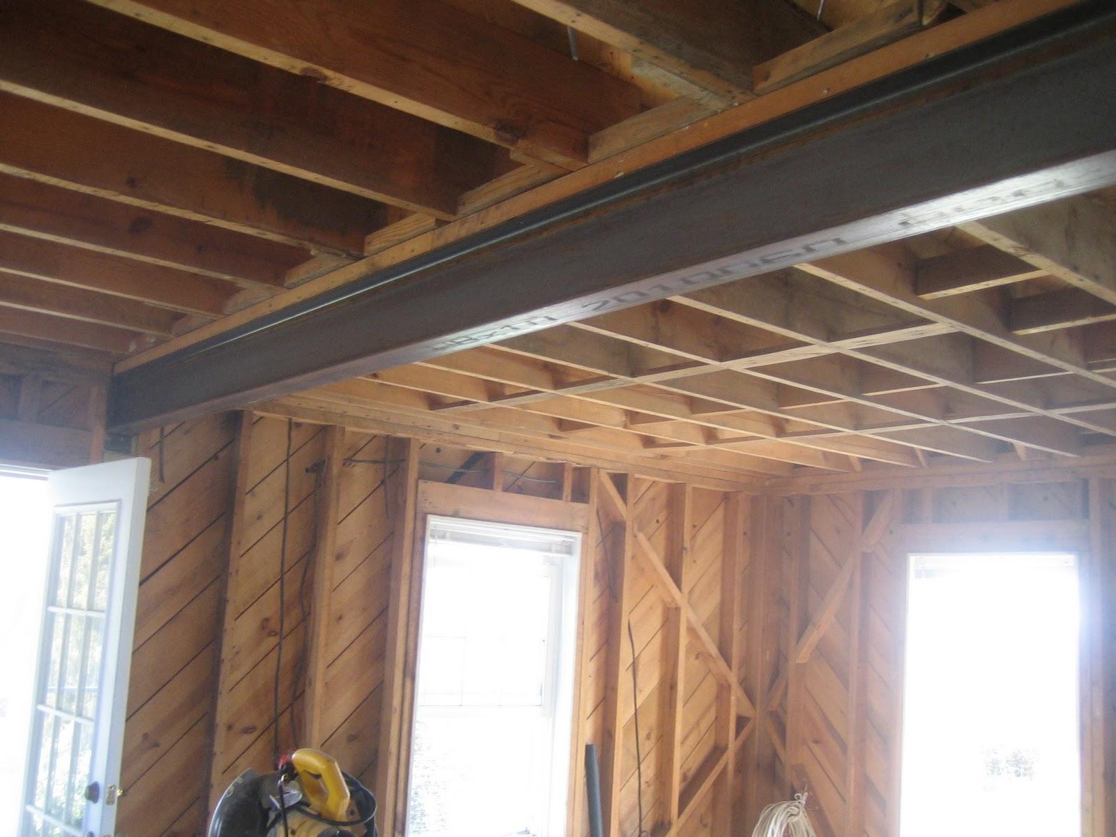 Metal Ceiling Support Beams: Renovation: Steel Beam Header