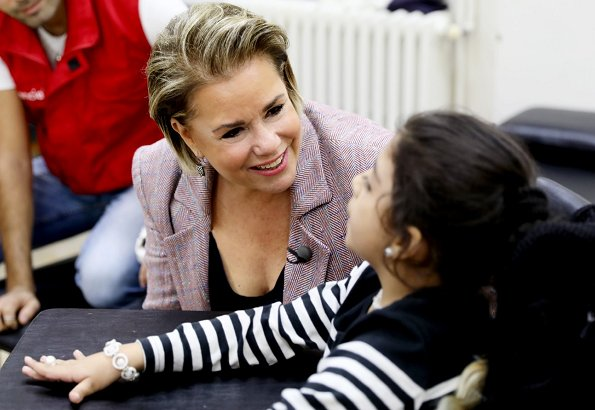 Grand Duchess Maria Teresa visited Arcenciel Foundation headquarters in Taanayel, and Bar Elias refugee camp in Bekaa Valley