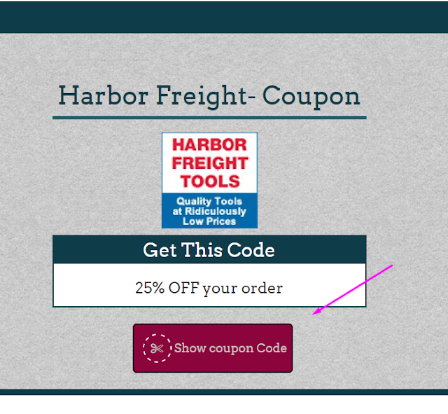 Harbor Freight 35% Coupon Code May 2017
