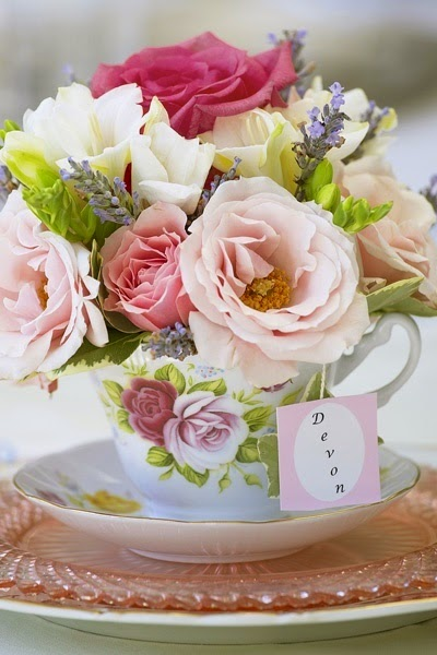 tea party flower centerpiece