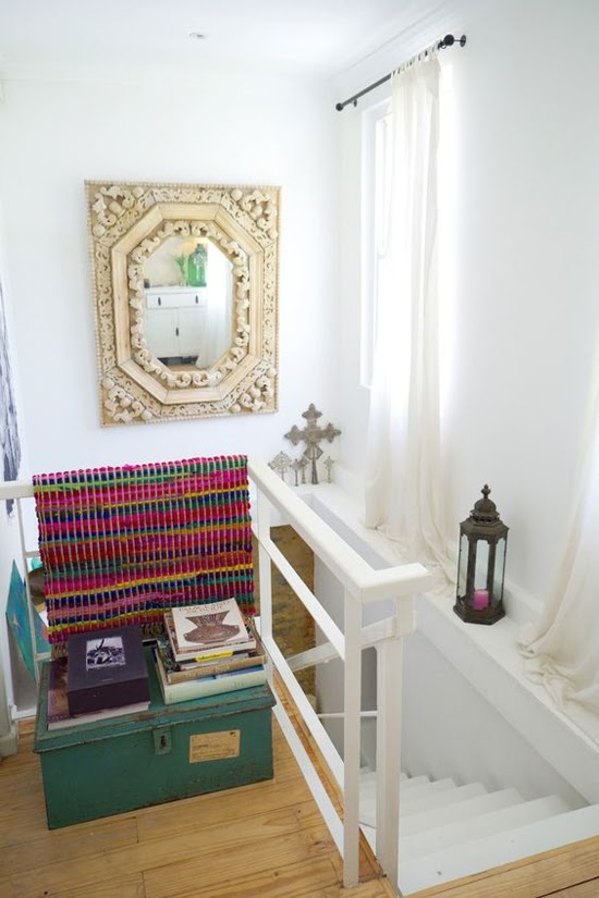 Safari Fusion blog | Ethiopian Crosses | Beautiful display of Ethiopian Coptic Processional Crosses in an eclectic Cape Town home