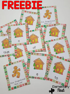FREE Christmas Sight Word Game-  December Activities and primary resources plus three FREEBIES- fun ELA, math, and social studies activities for students during the month of December