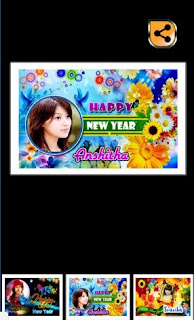New Year Wishes Photo Frames