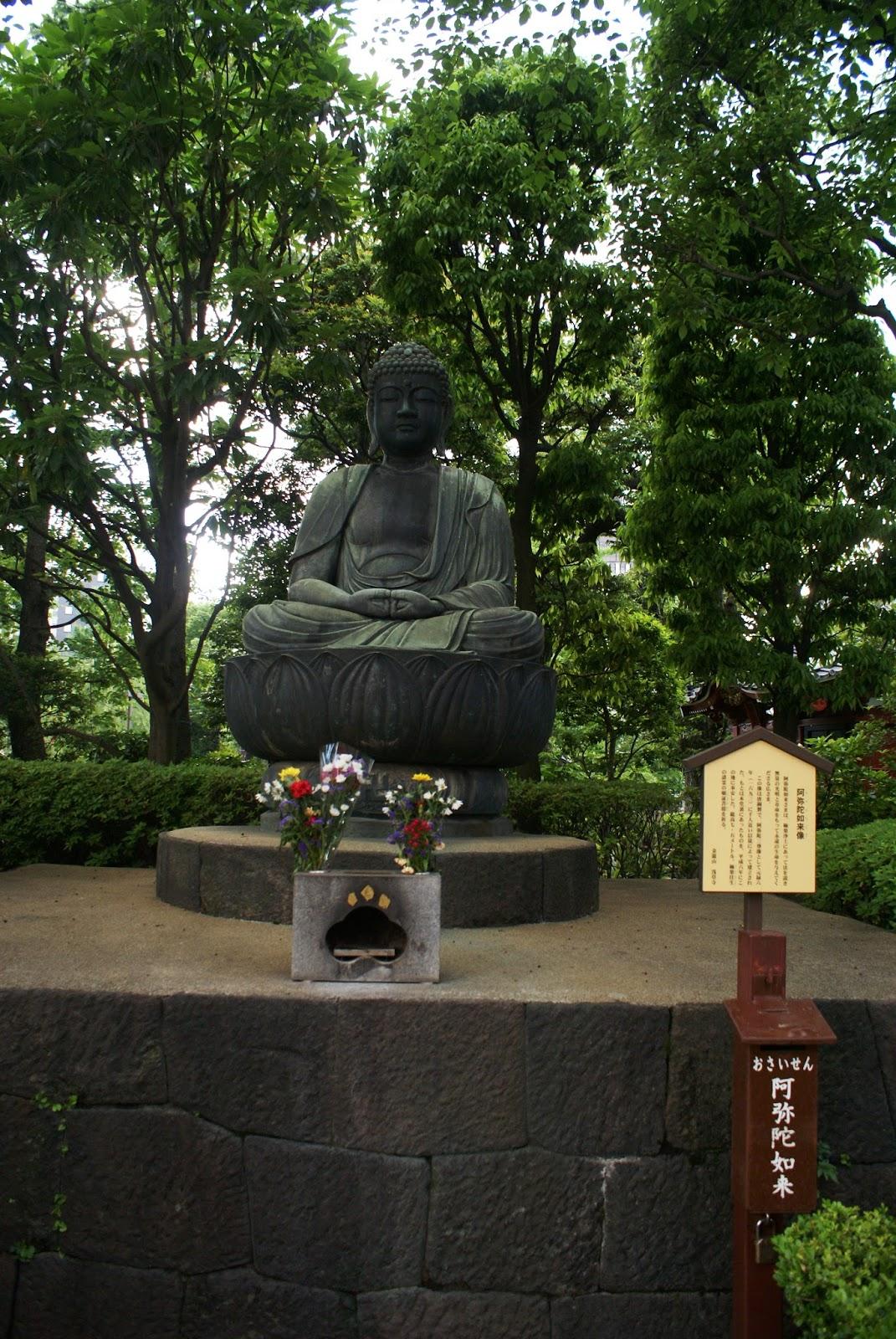 buddha asakusa senso-ji tokyo japan