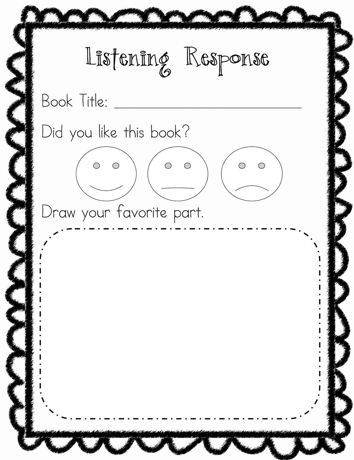 First With Franklin Daily 5 Listening To Reading Response Sheets Images